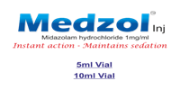 Medzol (Midazolam hydrochloride 1 ml, 5ml and 10 ml) injection